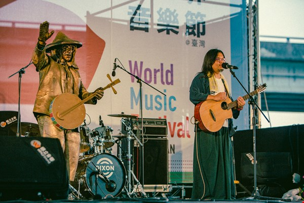 The World Music Festival promotes traditional musicians from Taiwan to the world. Pictured here are Yen Yung-neng and his band, Takao Run.