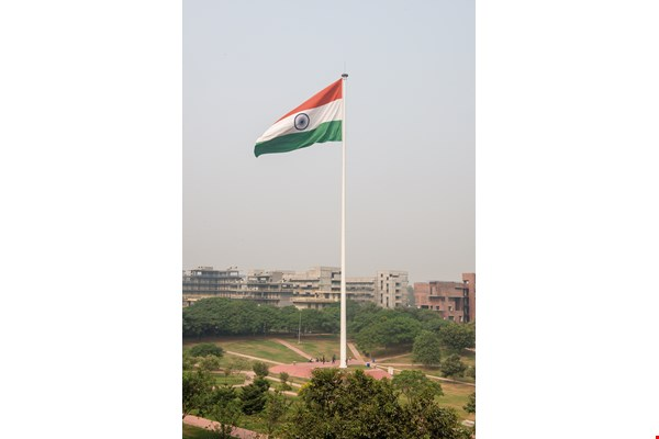 A view of part of the campus at OP Jindal Global University.