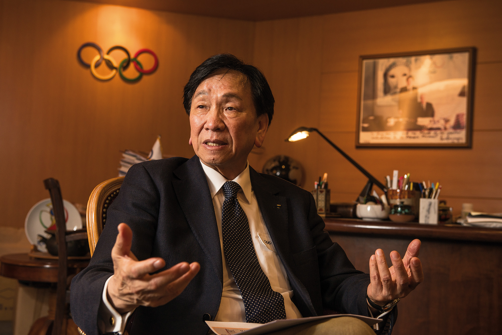Wu Ching-kuo hopes that the development of athletics in Taiwan and greater media coverage will lead to sports playing a greater role in people's lives. (photo by Chuang Kung-ju)
