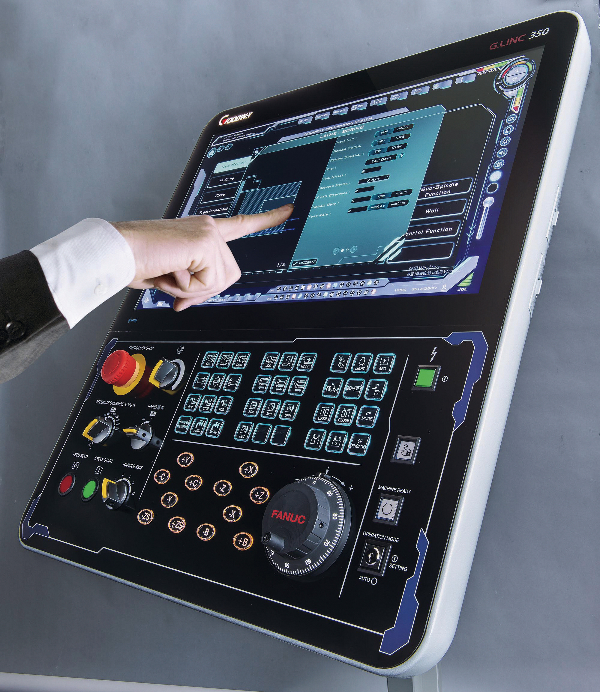The control module of a machine tool is its most essential component, like a human brain. (courtesy of Goodway Machine)