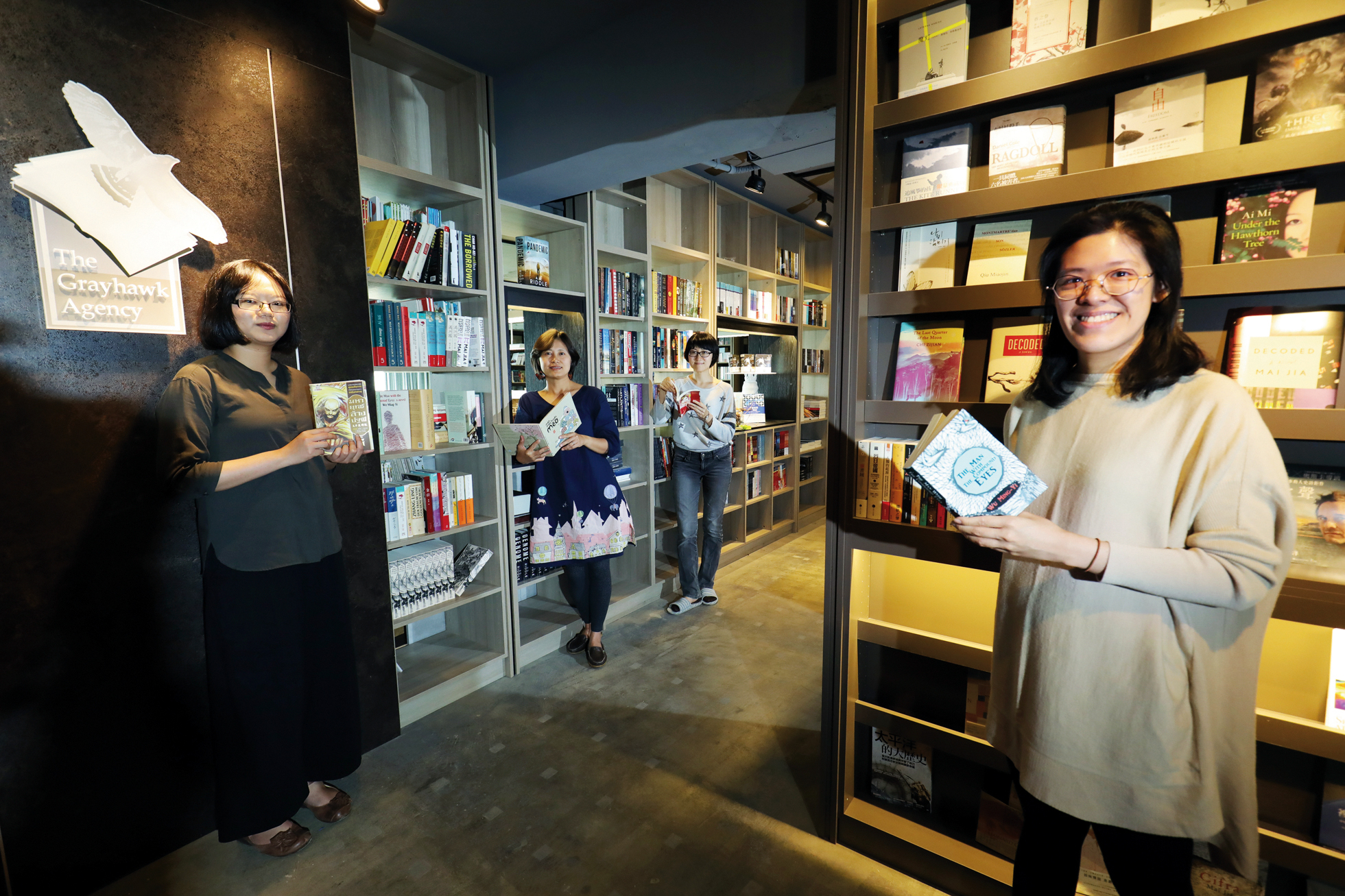 With Taiwan's publishing industry no longer able to look just at the domestic market, copyright brokers are becoming increasingly important to handle transnational deals. Shown here is the Grayhawk Agency. (photo by Jimmy Lin)