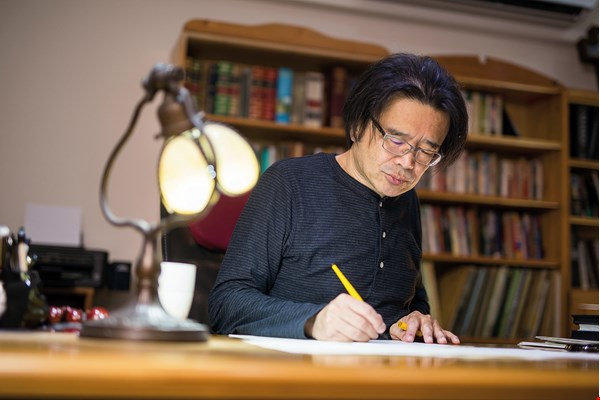 Gordon Chin has maintained the same daily routine for decades, composing for eight or nine hours per day.