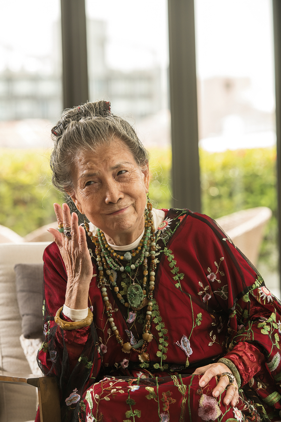The 78-year-old Lin-Jiang Juandai always maintains an optimistic attitude to life.