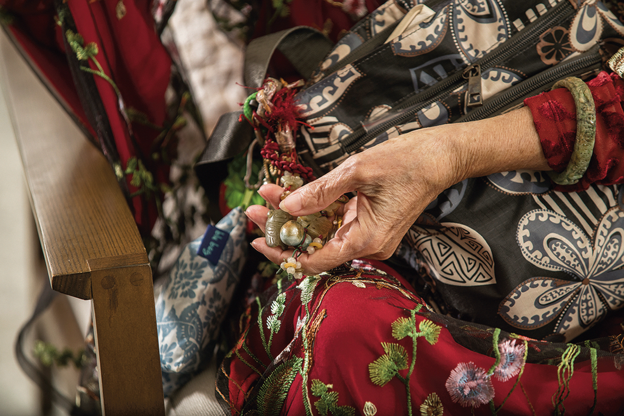 """The """"Bohemian grandmother"""" never goes without jade jewelry."""