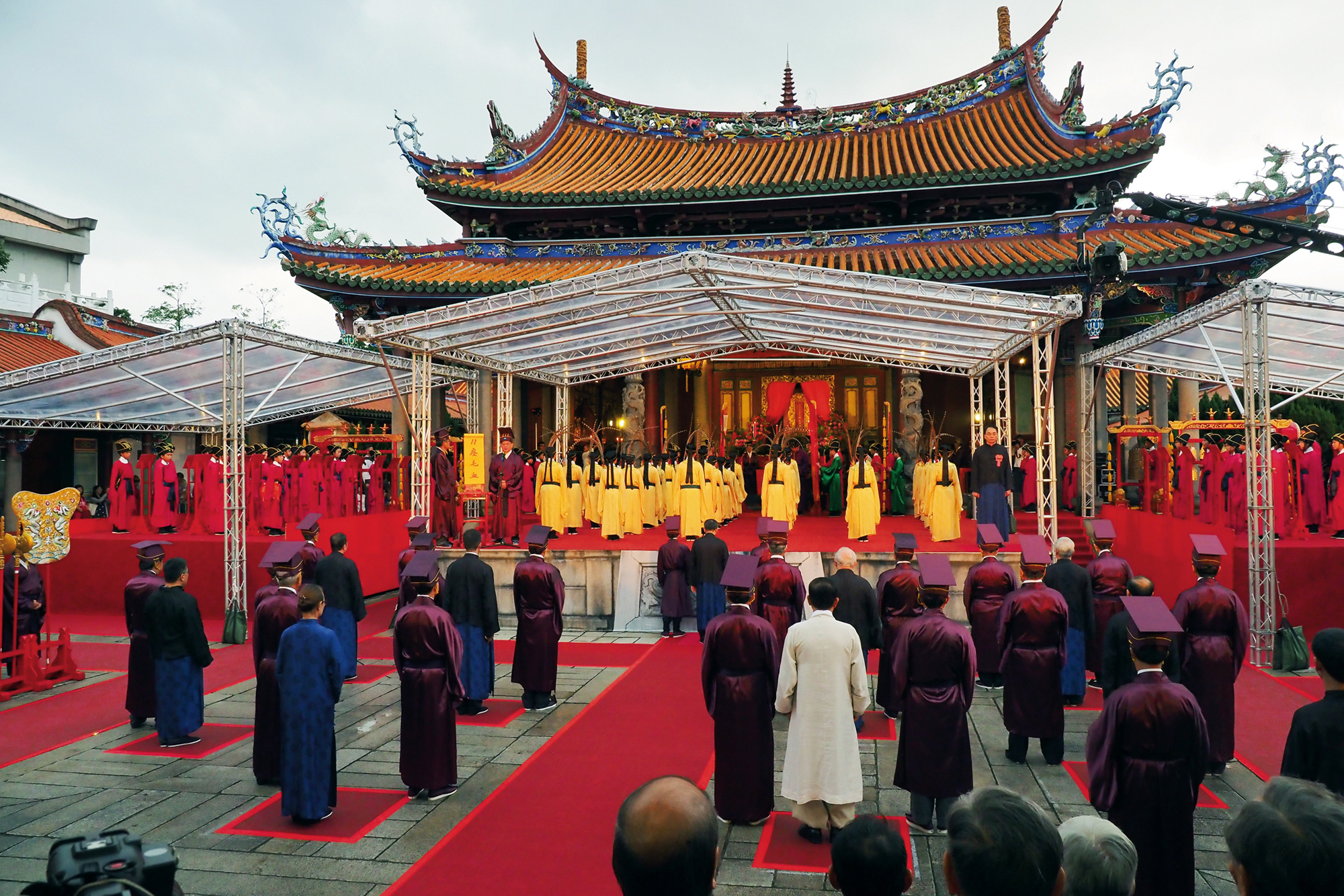 The Autumn Confucian Ceremony is a major event in the temple's annual calendar.