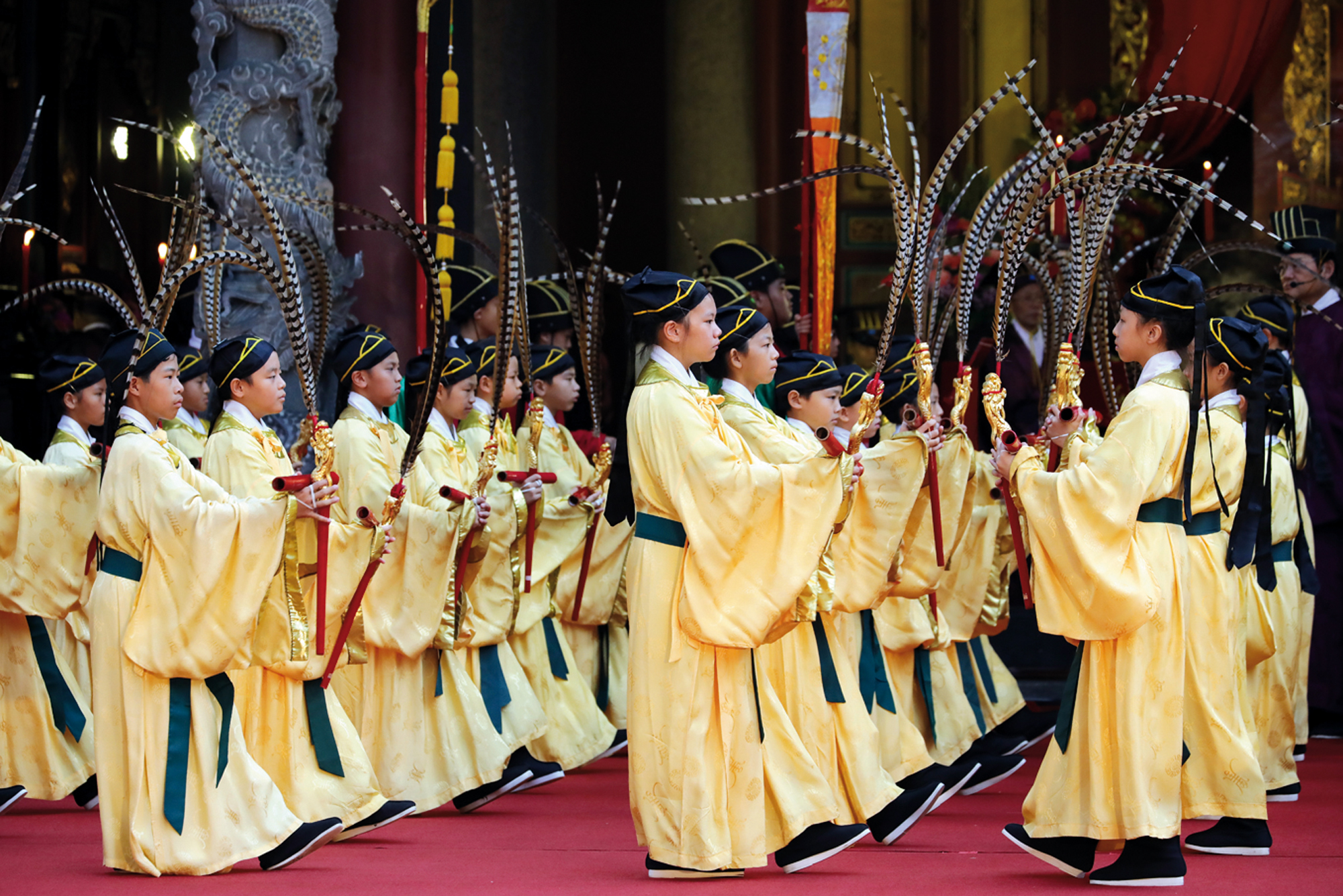 Since 1931, the dancers at the ceremony have been students at Dalong Elementary School. They have passed down this tradition for 87 years.