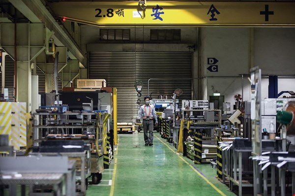 Taiwan's highly competitive machine tools industry ranks fifth globally for exports.  (photo by Lin Min-hsuan)