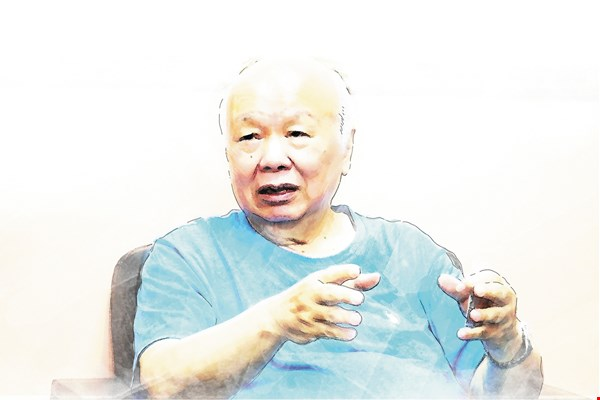 Hakka elder statesman Lin Kuang-hwa reminds Hakkas not to forget the values of their ancestors.