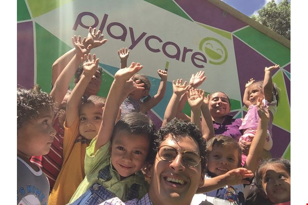 Andres Escobar stayed in El Salvador during the construction of Playcares there. (courtesy of IMPCT)
