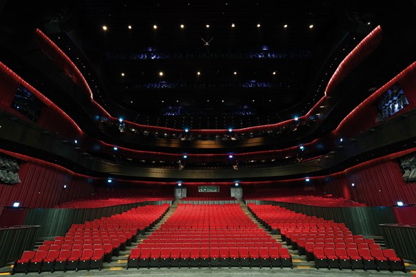 "The Opera House: One of the new center's four international-class performance venues, with ""Taiwan Red"" as its thematic color."