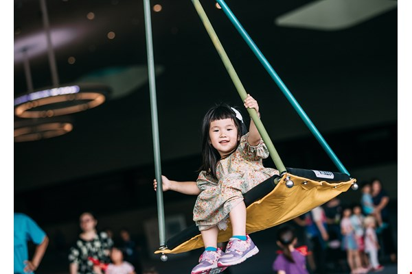 Where's the main entrance? Kaohsiung's new center for the arts doesn't have one! Its space is open to all. There are many ways to get familiar with it—play on the swings, watch a movie and more.
