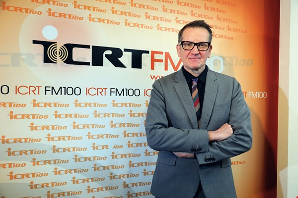 Tim Berge, ICRT's general manager, stresses the station's mission of serving expats and promoting cultural exchange between Taiwan and the West. (photo by Jimmy Lin)