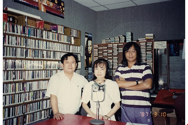 David Wang (right) was a renowned ICRT program host.