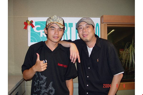 Host Joseph Lin has interviewed Jay Chou several times, starting back before he was famous. (courtesy of Joseph Lin)