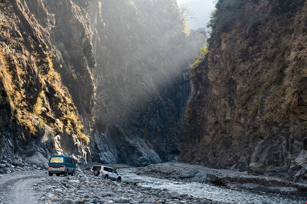 To visit the hidden beauty of the Hayou River requires a rugged car ride of more than an hour along the riverbed.