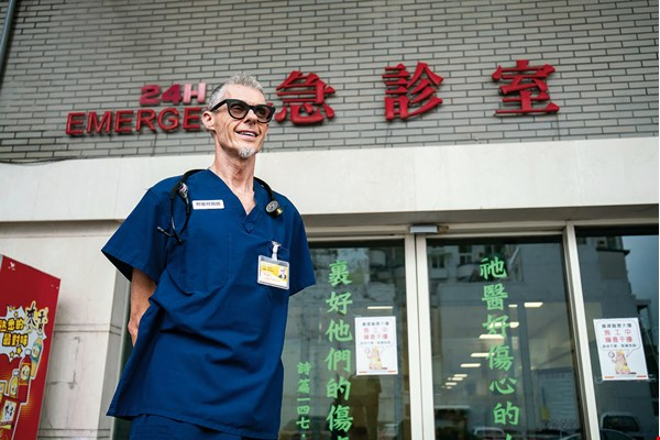 "Peter Kenrick, chief of emergency medicine at Taitung Christian Hospital, speaks to his patients in Mandarin and likes to ask jokingly, ""How come your Mandarin is as good as mine?"""
