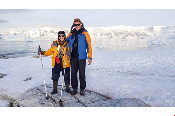 Kenrick and his wife, Wang Yuan Ling, explored the Arctic and Antarctic Circles together. (courtesy of Peter Kenrick)