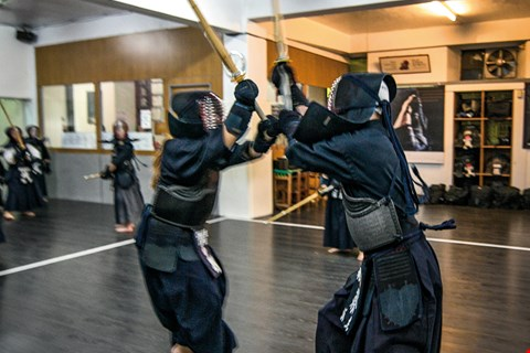 The ultimate goal in kendo is that magic moment—kikentai ichi—when energy, sword, and body are as one, and a perfect strike becomes possible. (photo by Chuang Kung-ju)