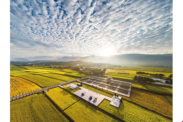Chishang's rice paddies are where local people earn their living and catch up with each other. The town owes to them its cultural vitality and artistic creativity. (photo by Hsiao An-shun, courtesy of Lovely Taiwan)