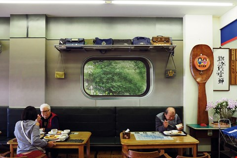 Fu Jing Restaurant, a railroad-themed eatery. (photo by Jimmy Lin)