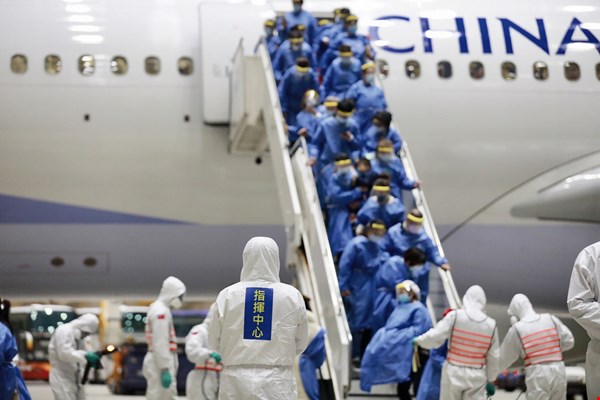 Taiwan's government implemented stringent disease control measures on chartered flights from Wuhan.  (courtesy of CECC)