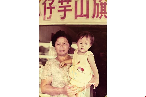 Charng Mei's founder Kuo-Li Charng Mei and her grandson Kuo Renhao in front of the shaved ice shop. (courtesy of Kuo Renhao)