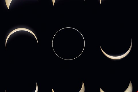 Annular eclipse (photographed by Kent Chuang at Fuli Township, Hualien County)